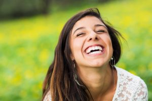 laughing woman with gorgeous smile
